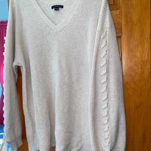 American Eagle knit lace up sweater